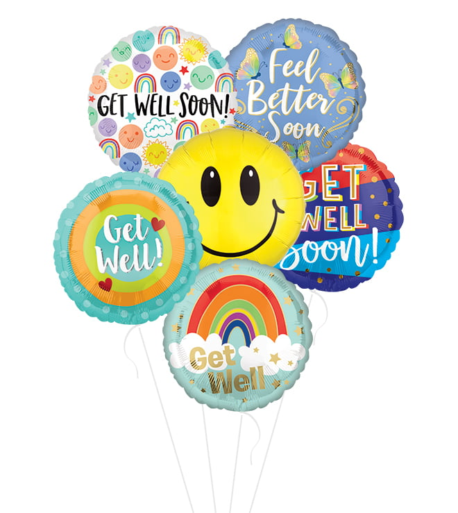 #1 Choice Get Well Balloon Bunch