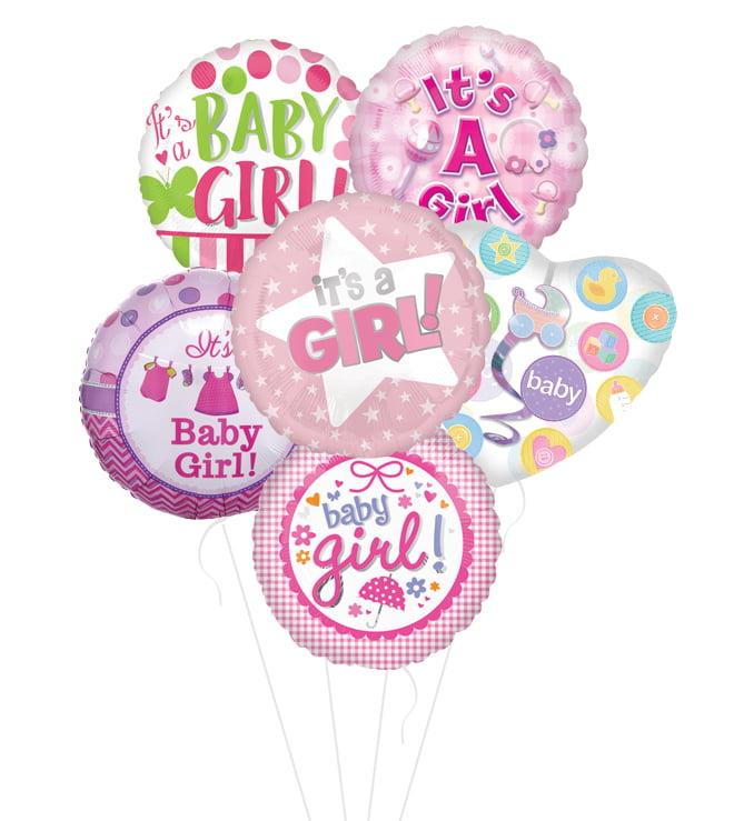 #1 Choice Its a Girl Balloon Bouquet