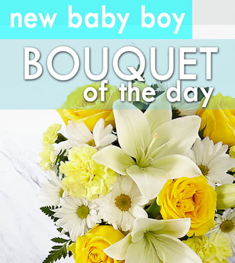 New Baby Boy Artisan Bouquet of the Day