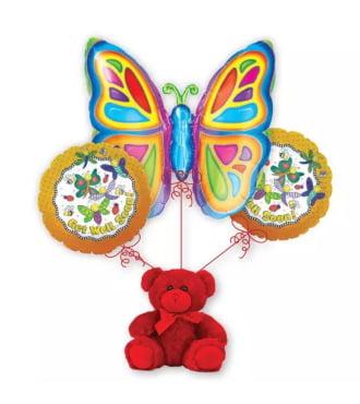 Get Well Butterfly Balloon Bouquet