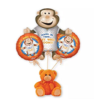 Get Well Monkey Balloon Bouquet