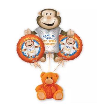 Get Well Monkey Balloon Bouquet