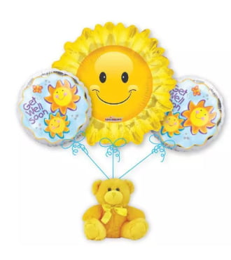 Get Well Sunshine Balloon Bouquet