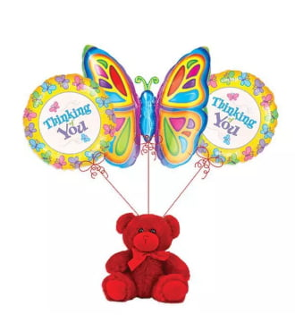 Thinking of You Butterfly Balloon Bouquet