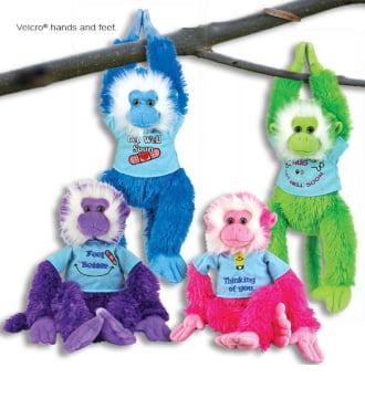18 inch Hanging Get Well Monkey