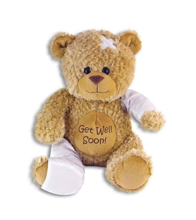 Stuffed Bear wearing a cast